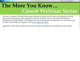 Cancer Webinar Series