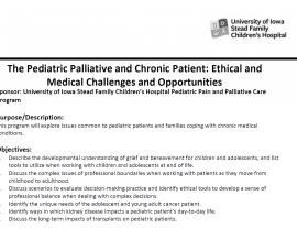 Pediatric and Palliative Care Conference