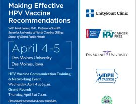 Making Effective HPV Vaccine Recommendations