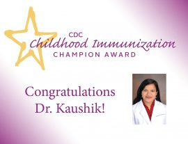 Dr. Kaushik Receives 2019 Champion Award