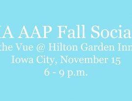 IA AAP Fall Social
