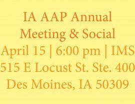 Annual Meeting & Social Postponed