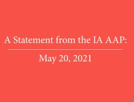 A Statement from the IA AAP